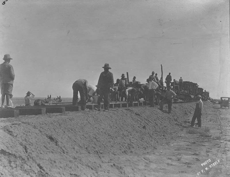 Railroad construction crew, Haskell County, Kansas