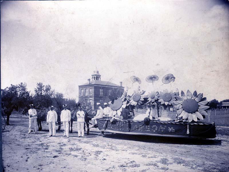 Parade float in Ashland, Kansas