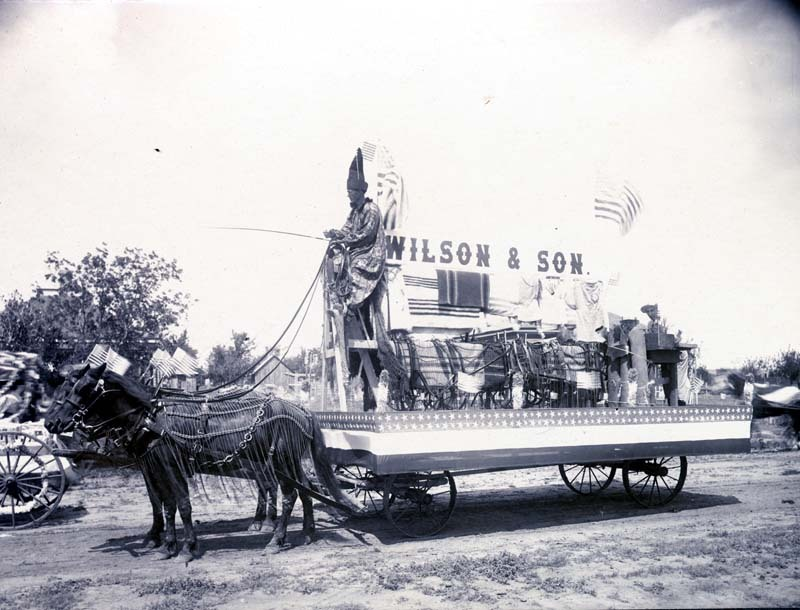 Parade float in Ashland, Kansas