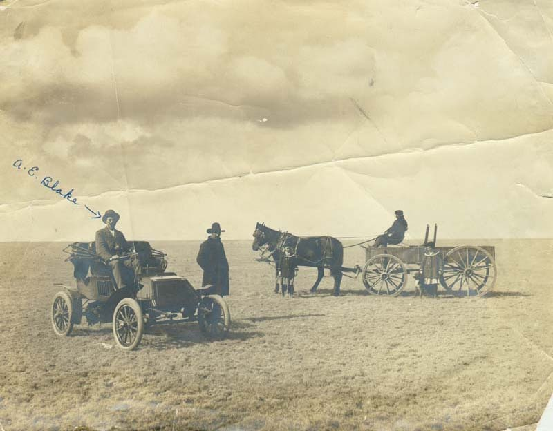A. E. Blake and others on the plains in Seward County, Kansas