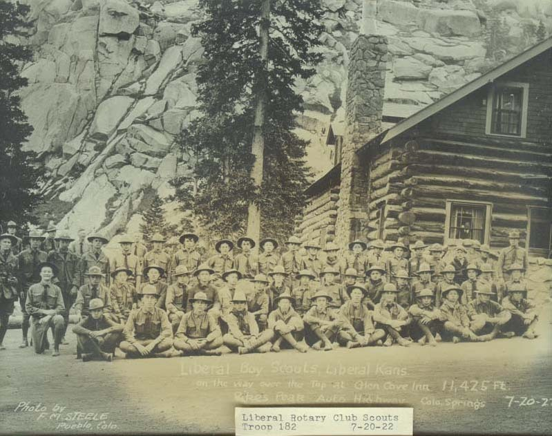 Liberal, Kansas, Boy Scouts at Pikes Peak's Glen Cove Inn in