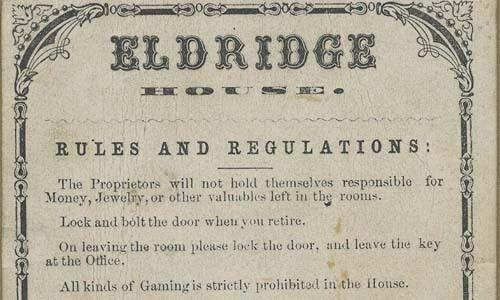Eldridge House Rules and Regulations