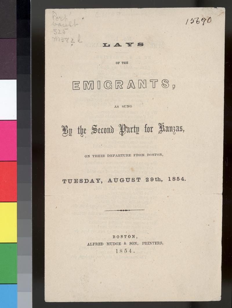 """""""Lays of the Emigrants"""" lyrics - p. 1"""