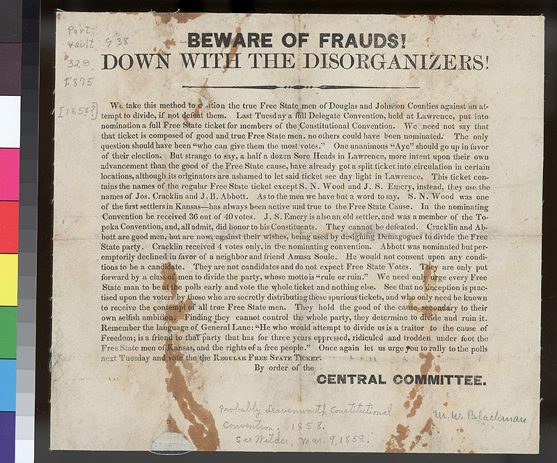 Beware of frauds!  Down with the disorganizers!