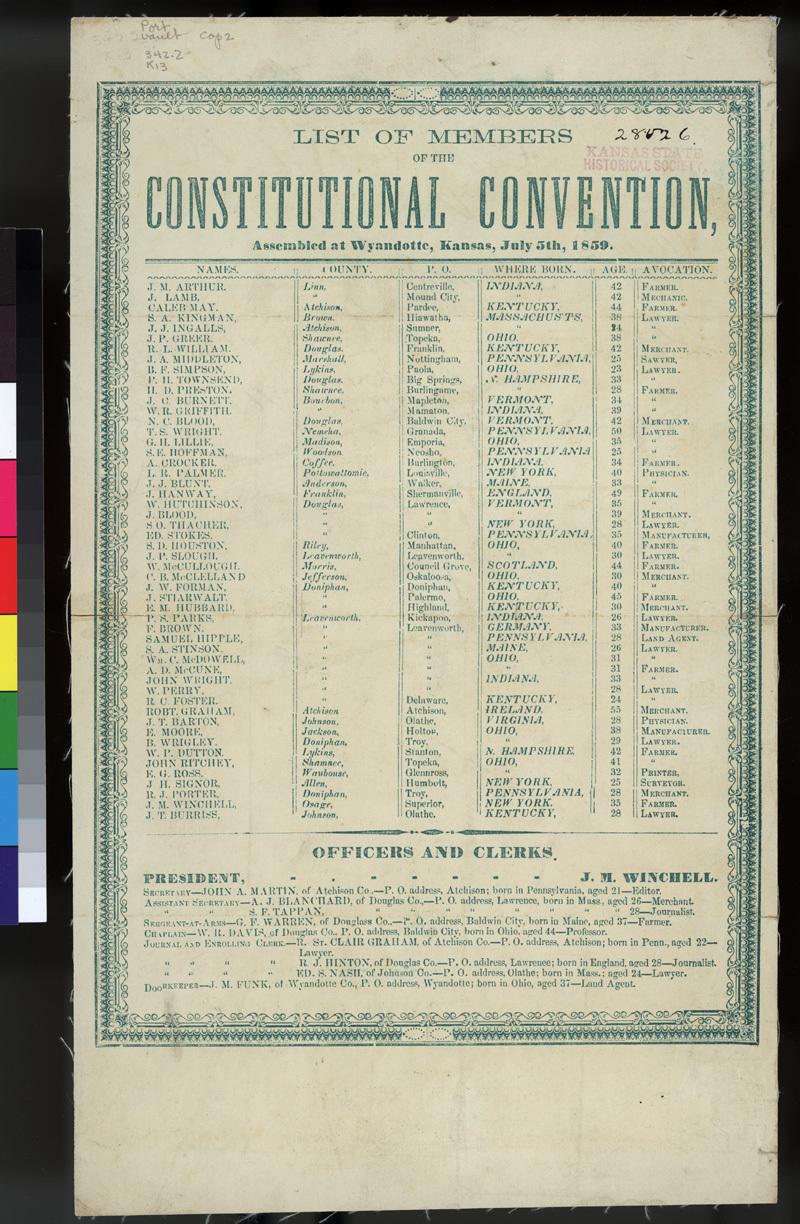 List of Convention Delegates
