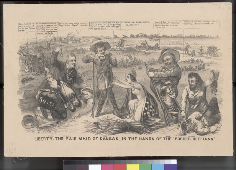 Liberty, the Fair Maid of Kansas, in the Hands of the Border Ruffians