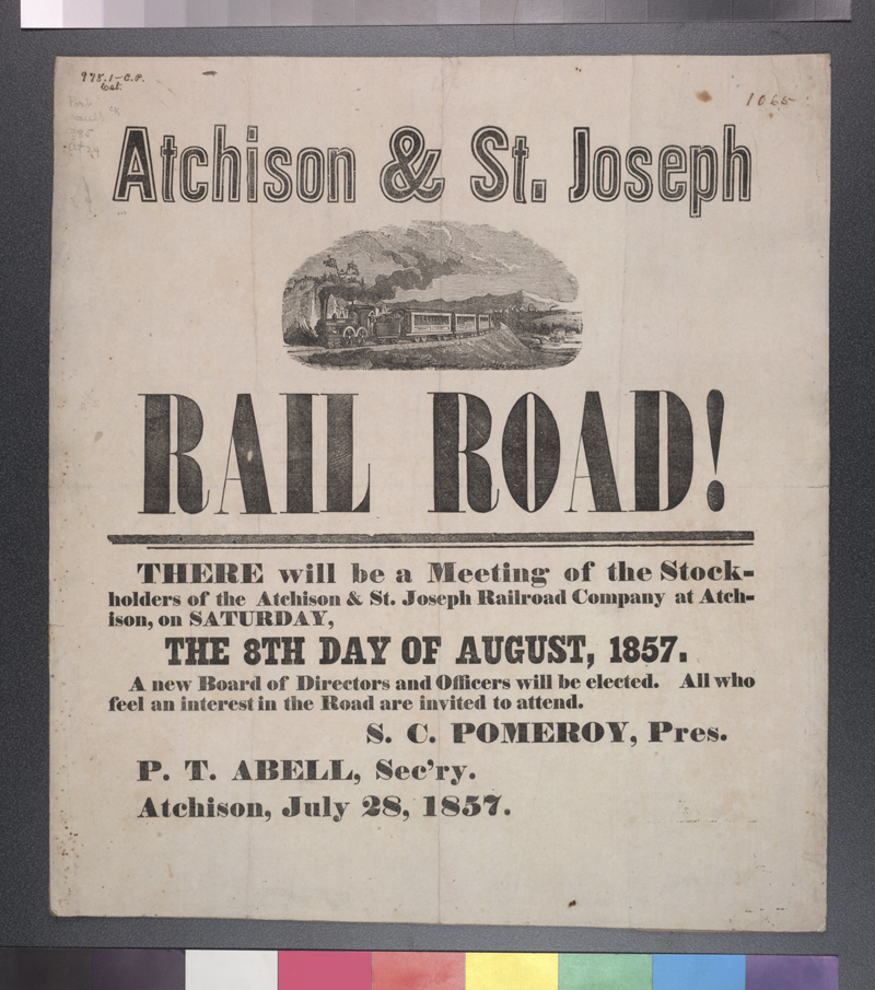 Atchison and St. Joseph Railroad Company stockholders' meeting