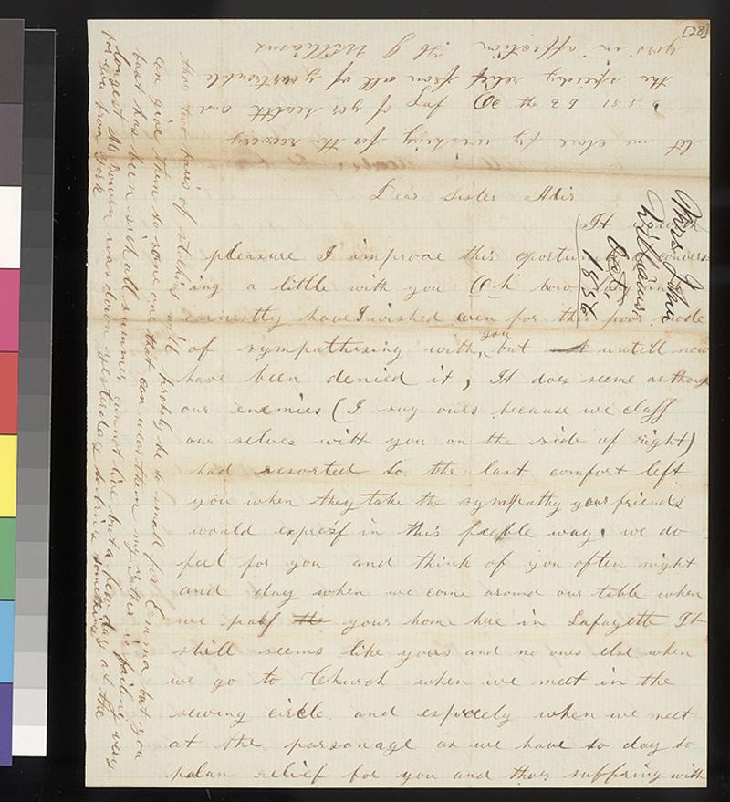 H. J. Williams to Florella Brown Adair - p. 1