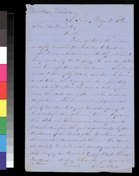 Elias Clark to Samuel N. Wood - p. 1