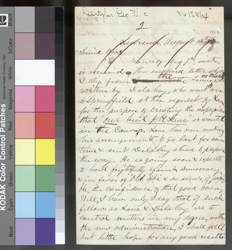 George W. Deitzler to Samuel N. Wood - p. 1