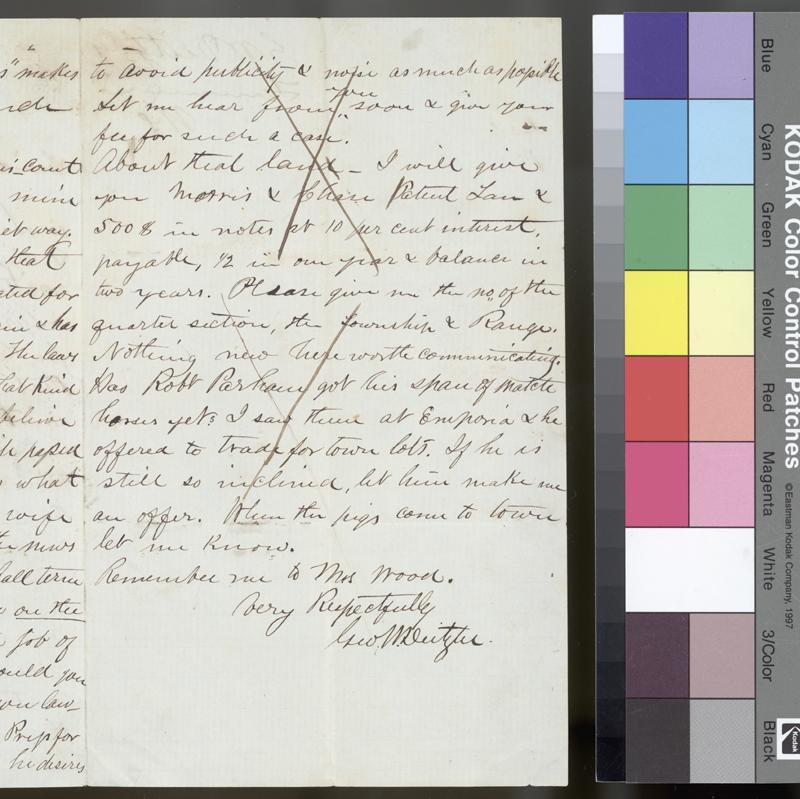 George W. Deitzler to Samuel N. Wood - p. 3