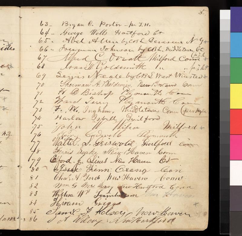 Connecticut Kansas Colony record book, 1856-1857 - p. 5