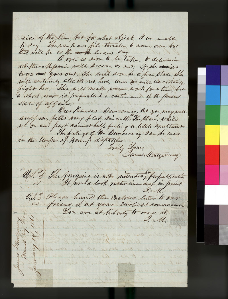 James Montgomery to Franklin B. Sanborn - p. 2