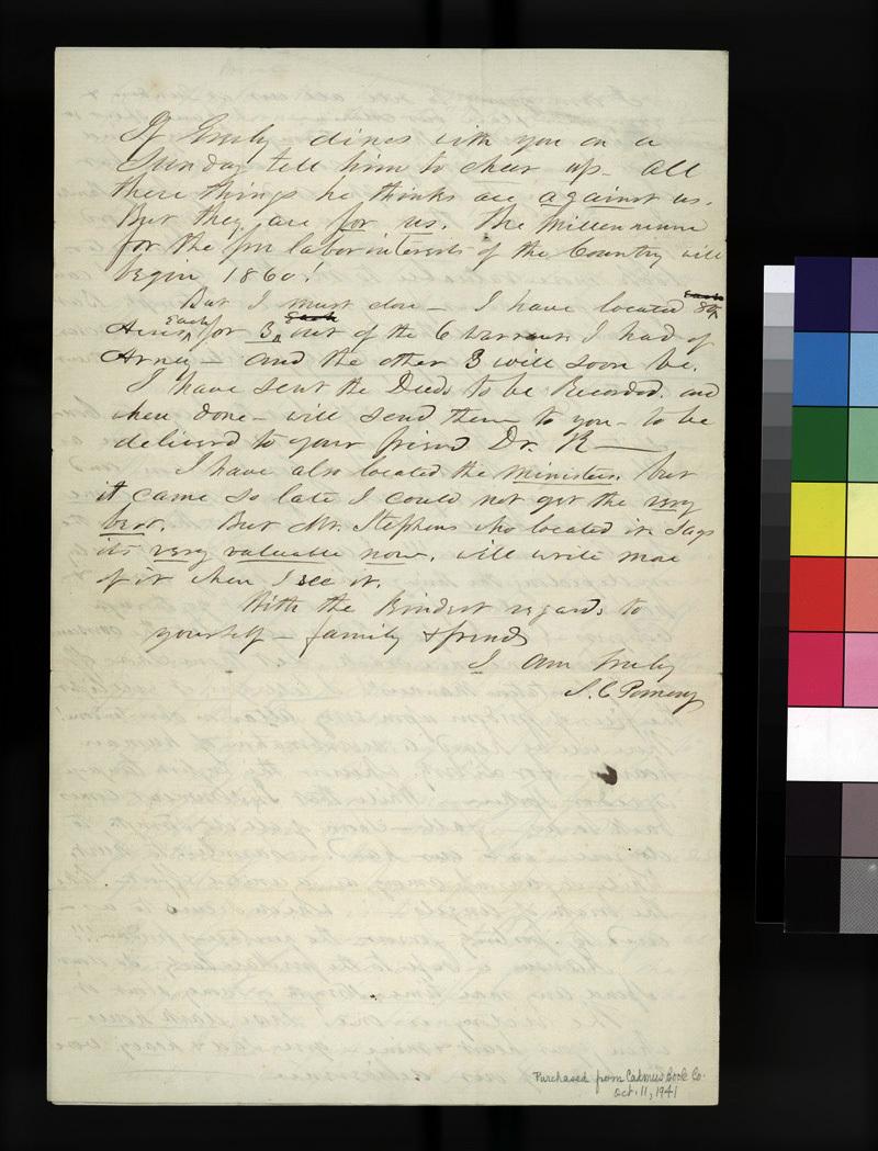 Samuel C. Pomeroy to Thaddeus Hyatt - p. 4