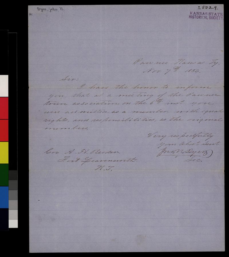 John N. Dyer to Andrew H. Reeder