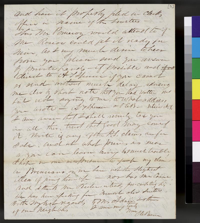 Orville C. Brown to Samuel L. Adair - p. 4