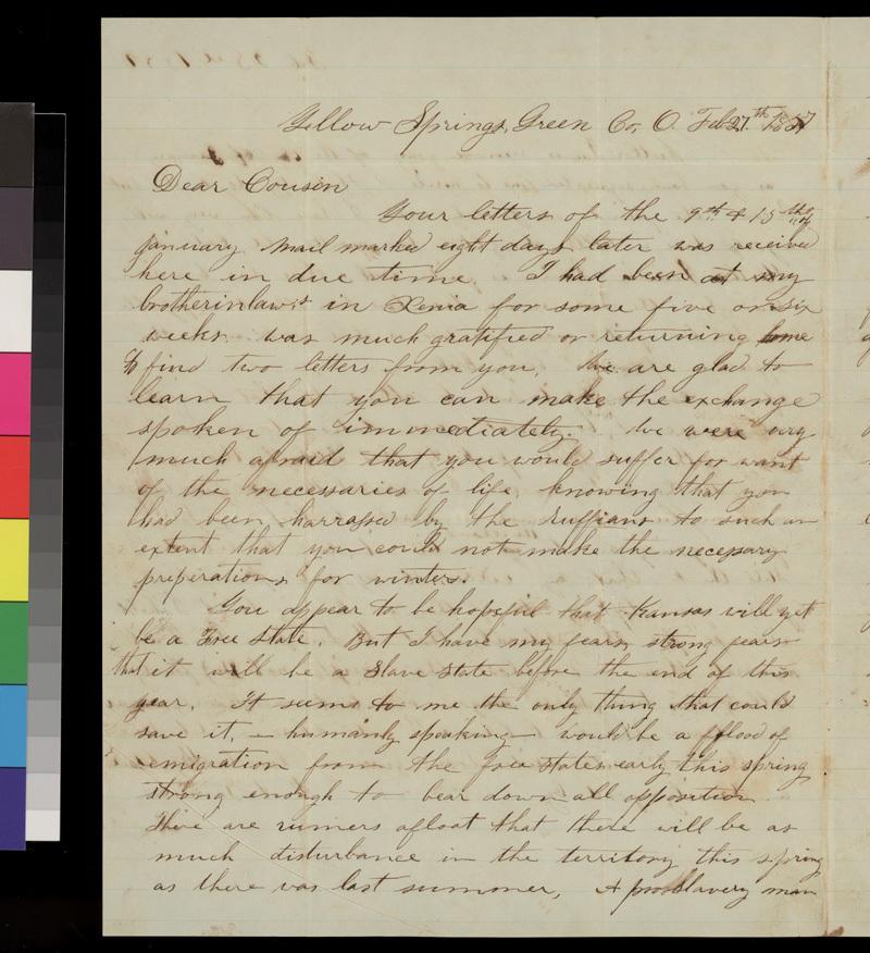 James Garrison to Samuel L. Adair - p. 1