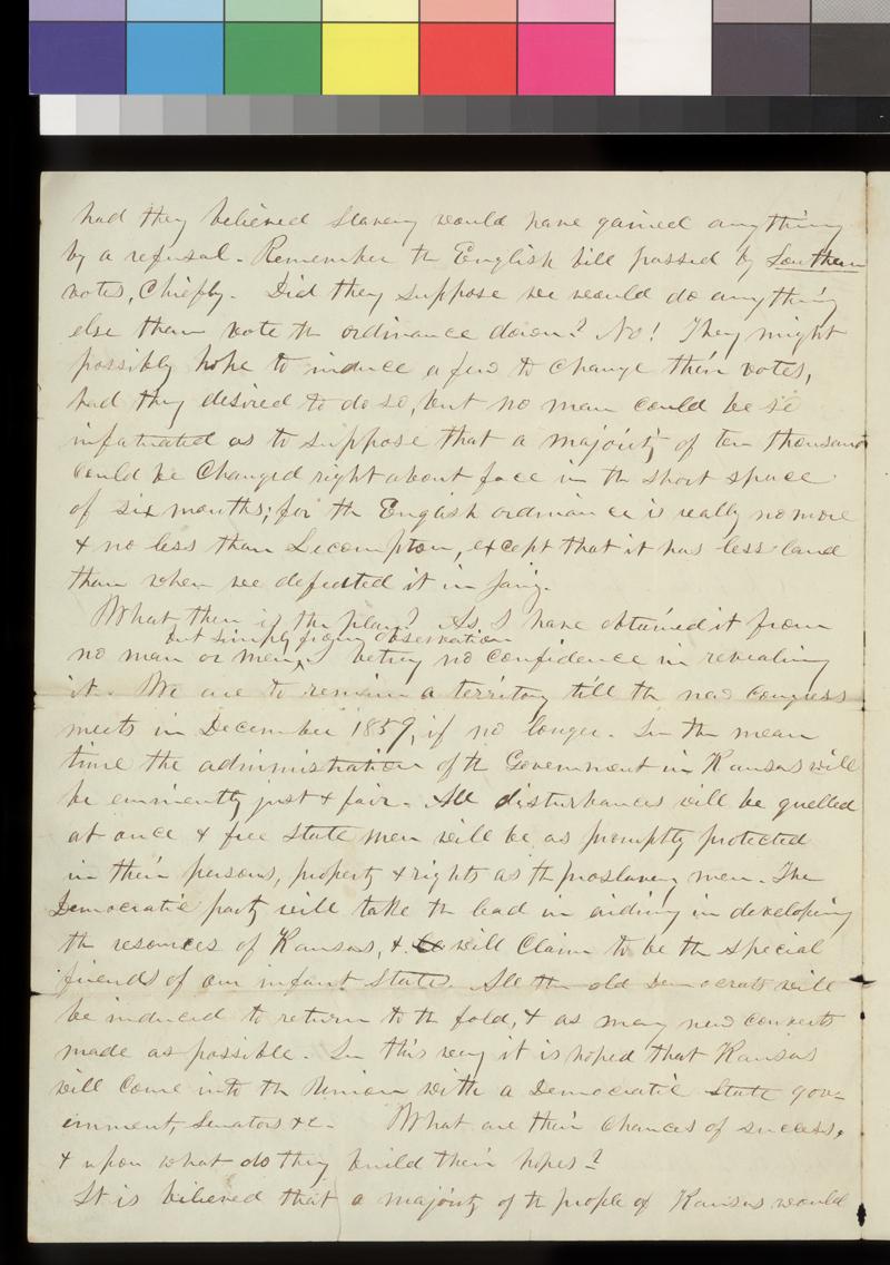 Charles Robinson to Henry Wilson - p. 2