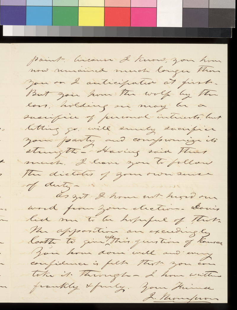 J. Thompson to James W. Denver - p. 3