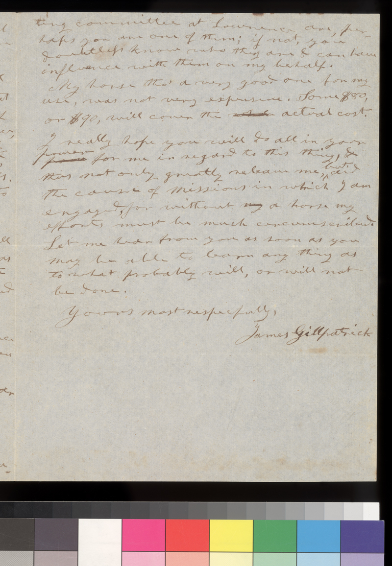 James Gillpatrick to Samuel C. Pomeroy - p. 3