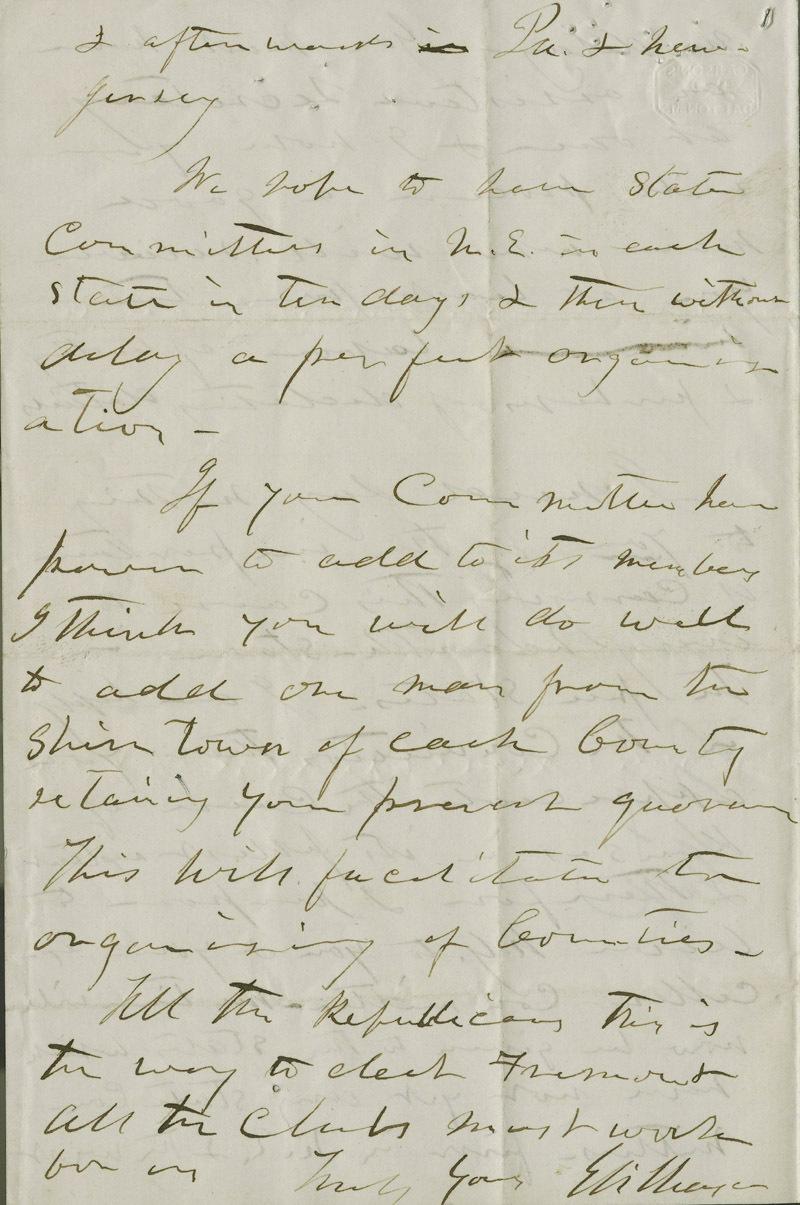 Eli Thayer to Mr. [William] Barnes - p. 3
