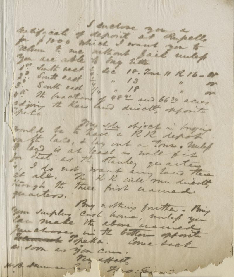 Thomas Ewing, Jr., to Dear Hamp B. Denman - p. 2