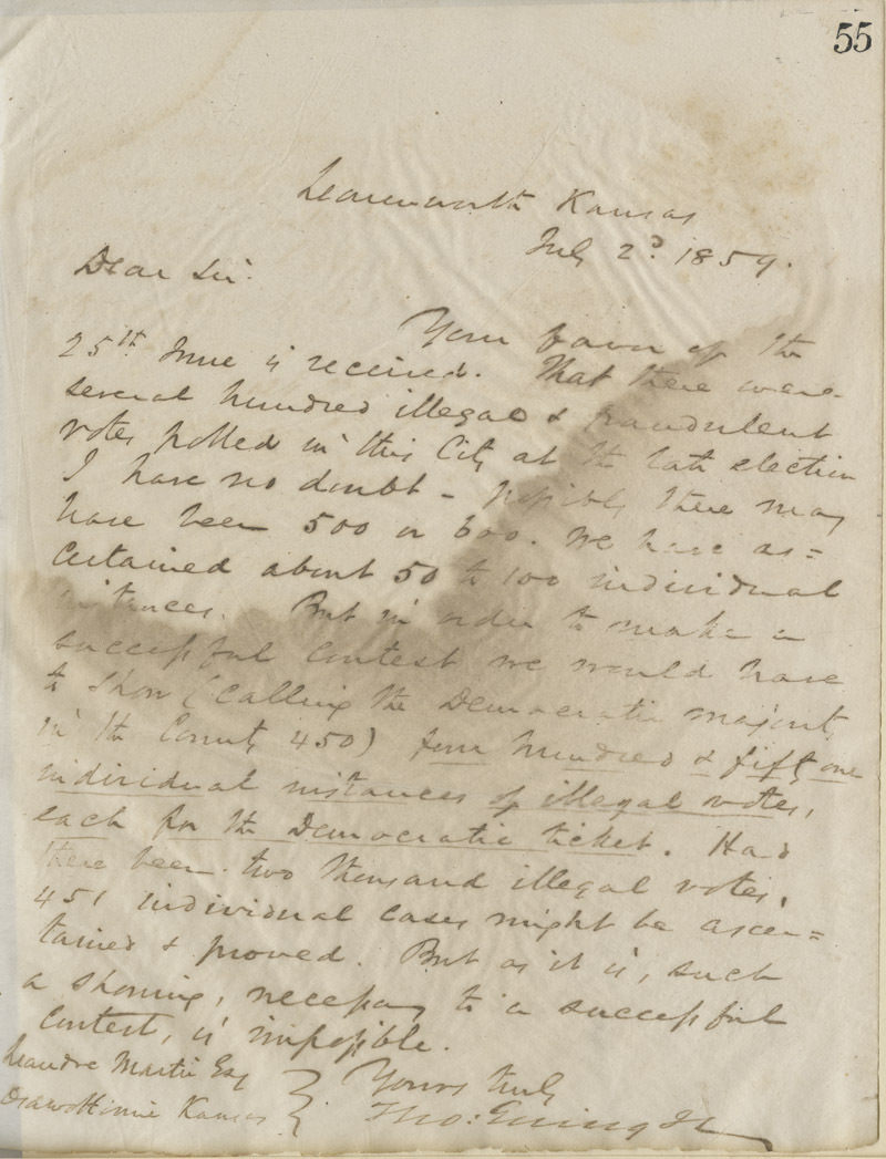 Thomas Ewing, Jr., to Leandre Martin
