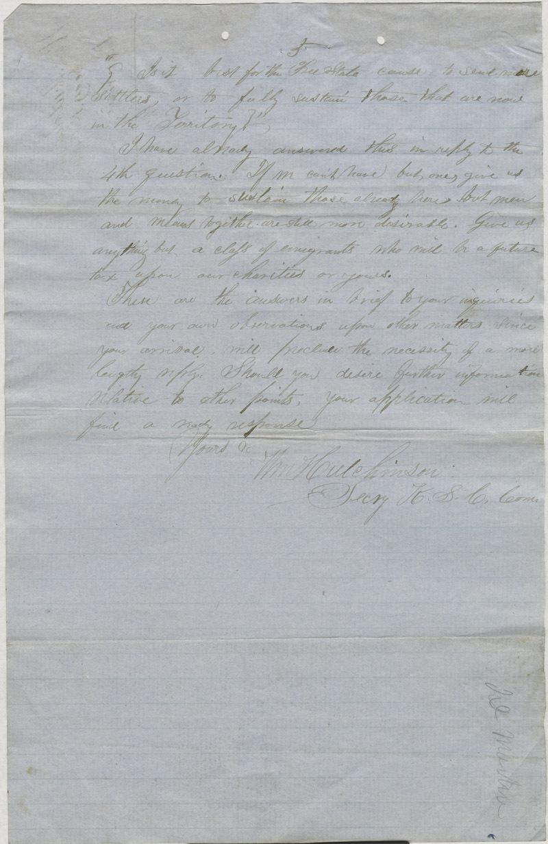 William Hutchinson to A. H. Shurtleff - p. 5