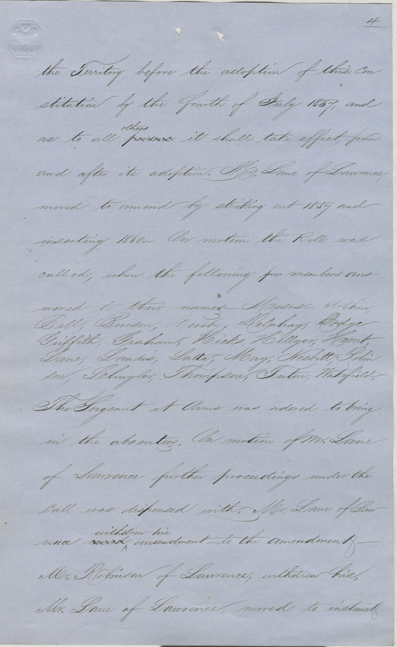 Topeka Constitutional Convention journal - p. 2