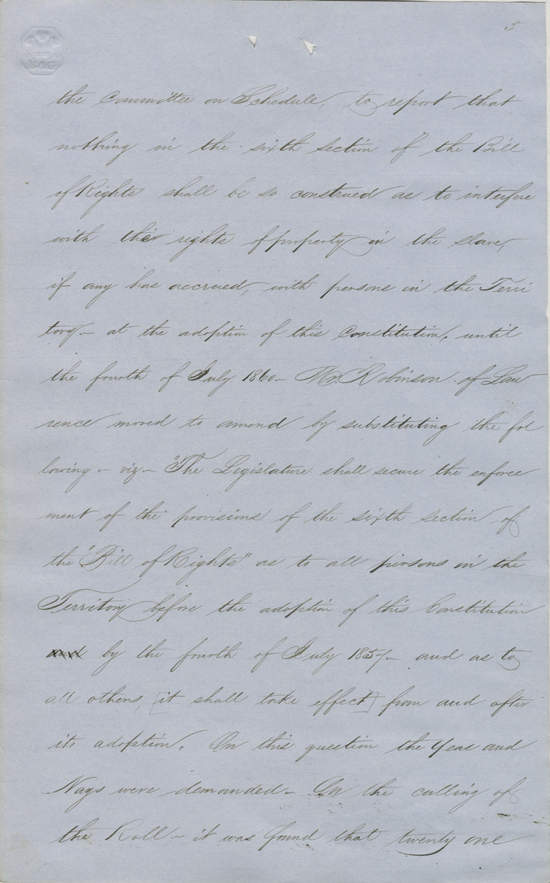Topeka Constitutional Convention journal - p. 3