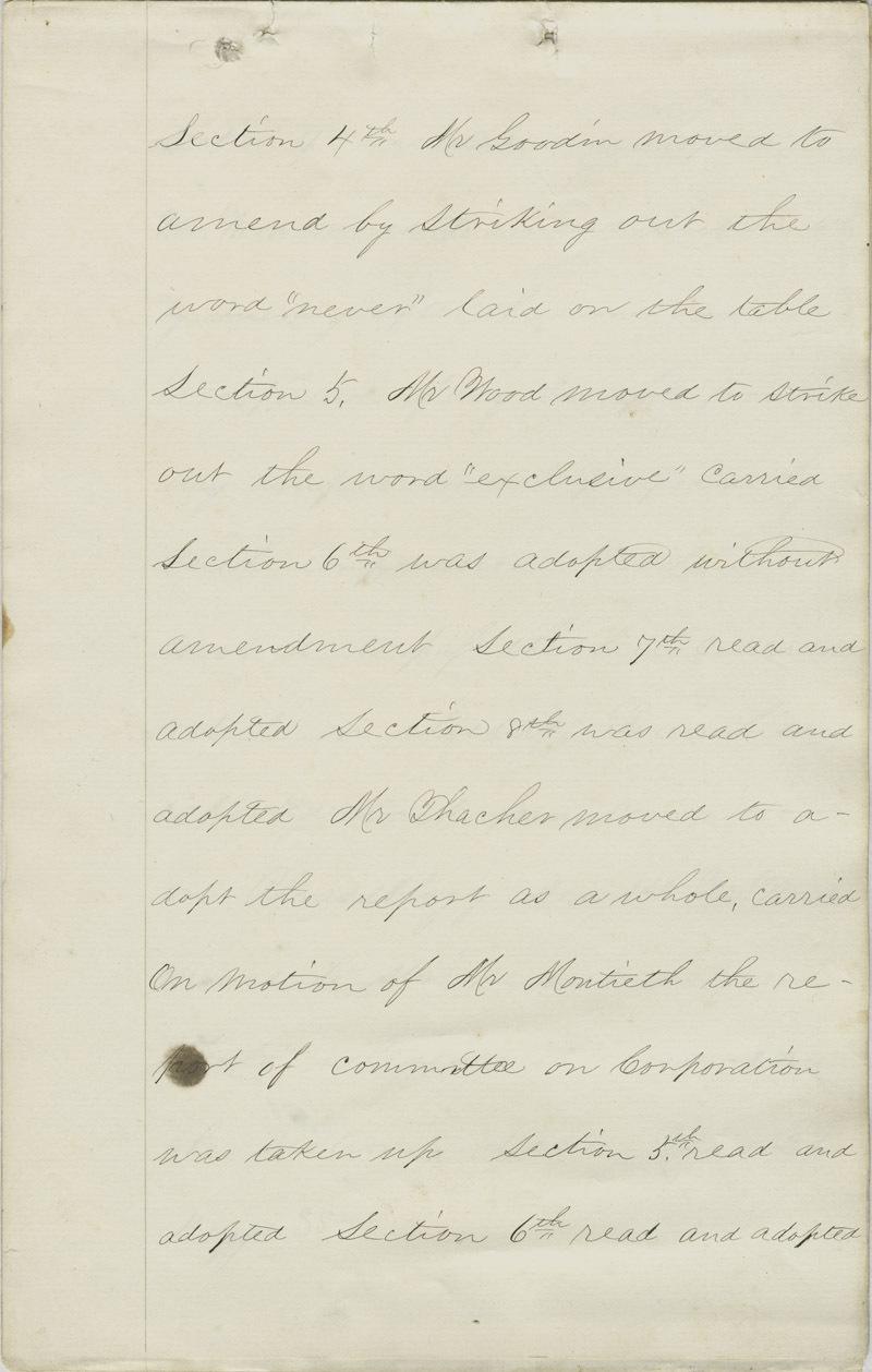 Leavenworth Constitutional Convention journal - p. 1