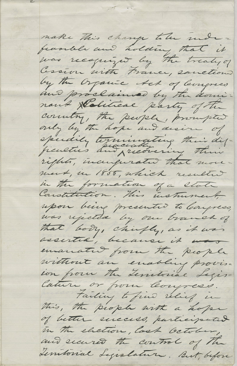 Address of the Constitutional Convention to American Public - p. 3