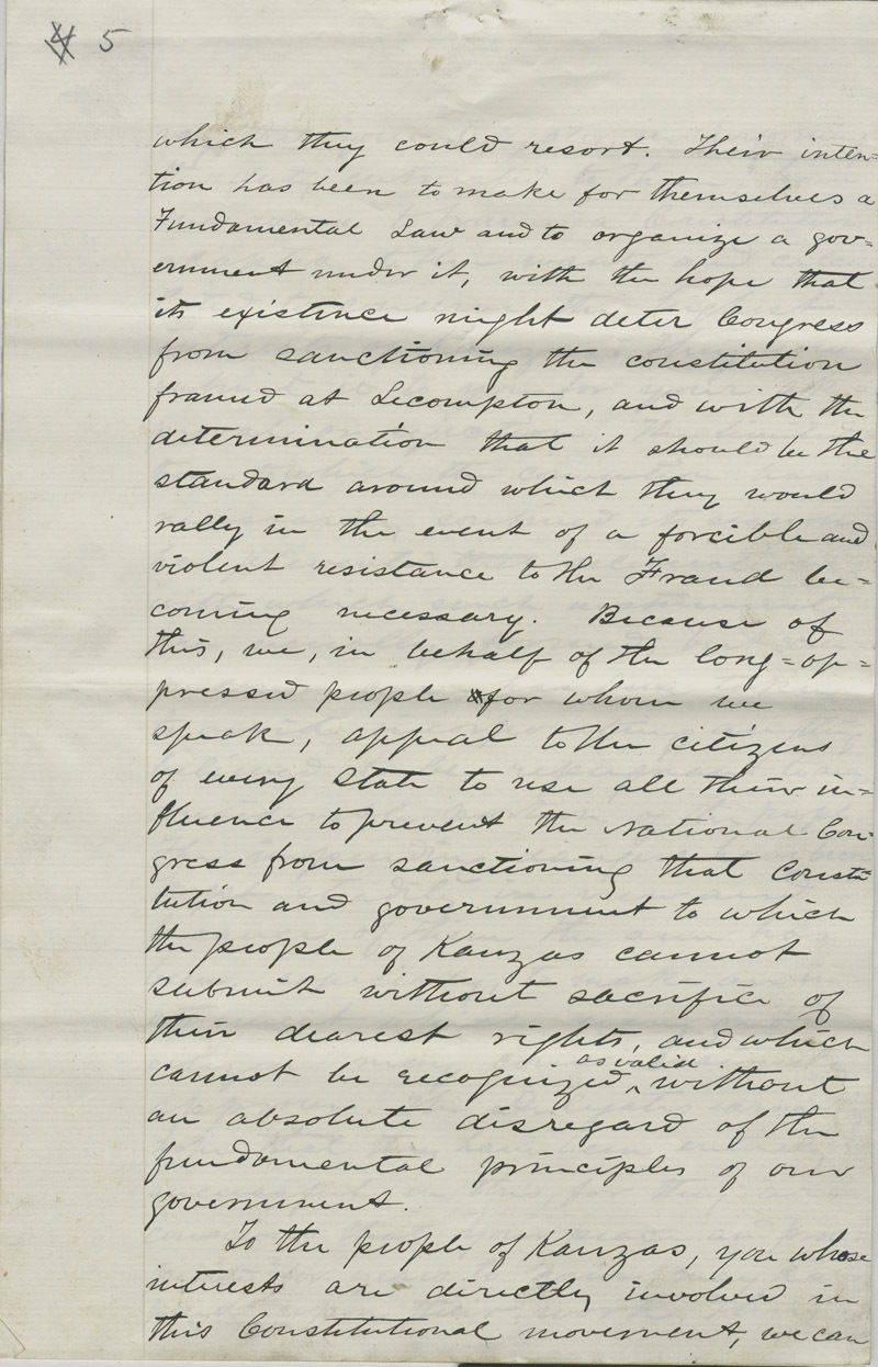 Address of the Constitutional Convention to American Public - p. 5