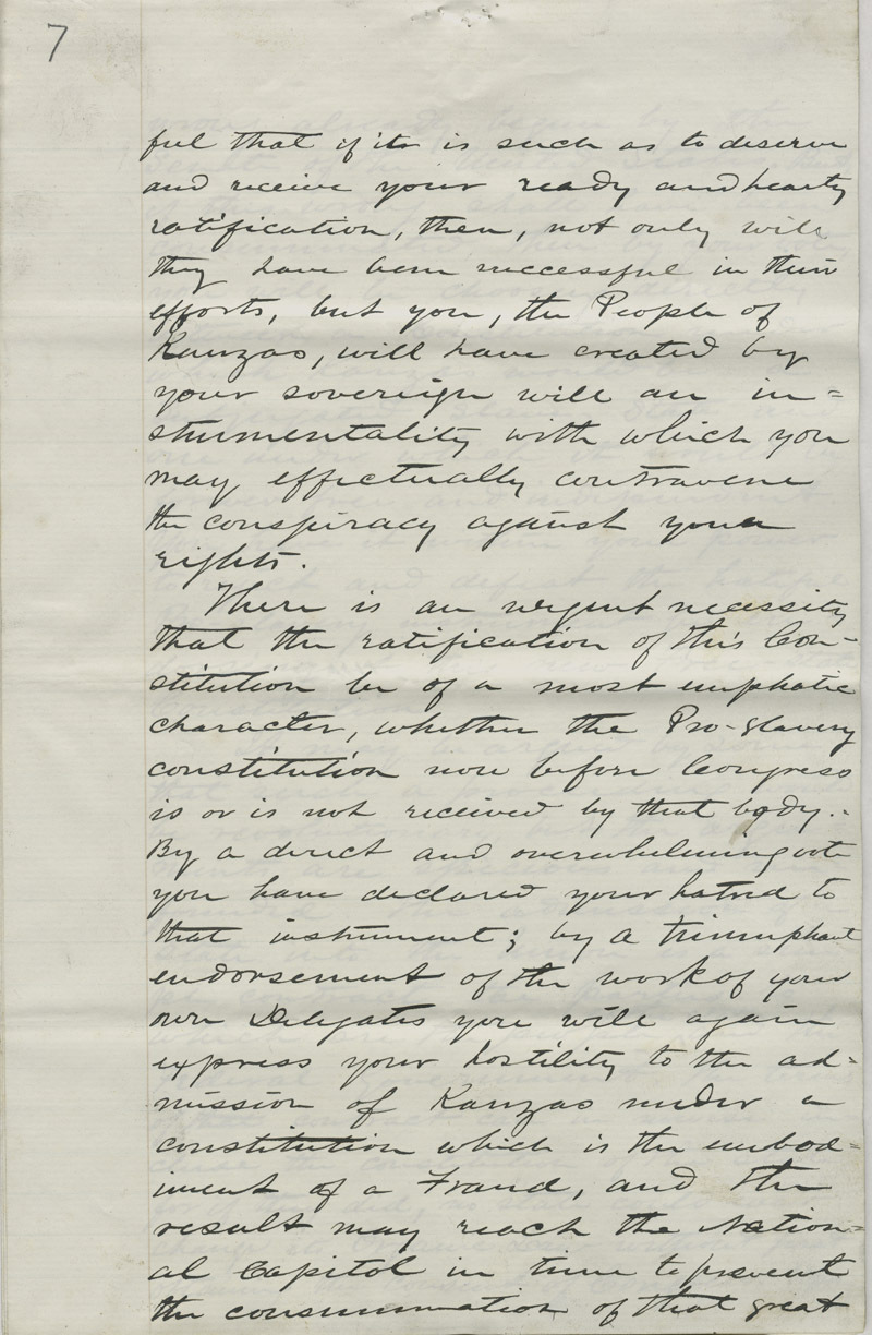Address of the Constitutional Convention to American Public - p. 7