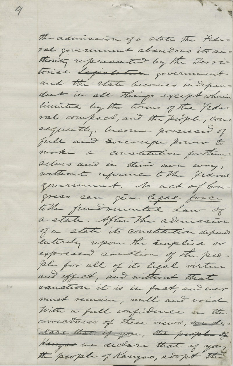Address of the Constitutional Convention to American Public - p. 9