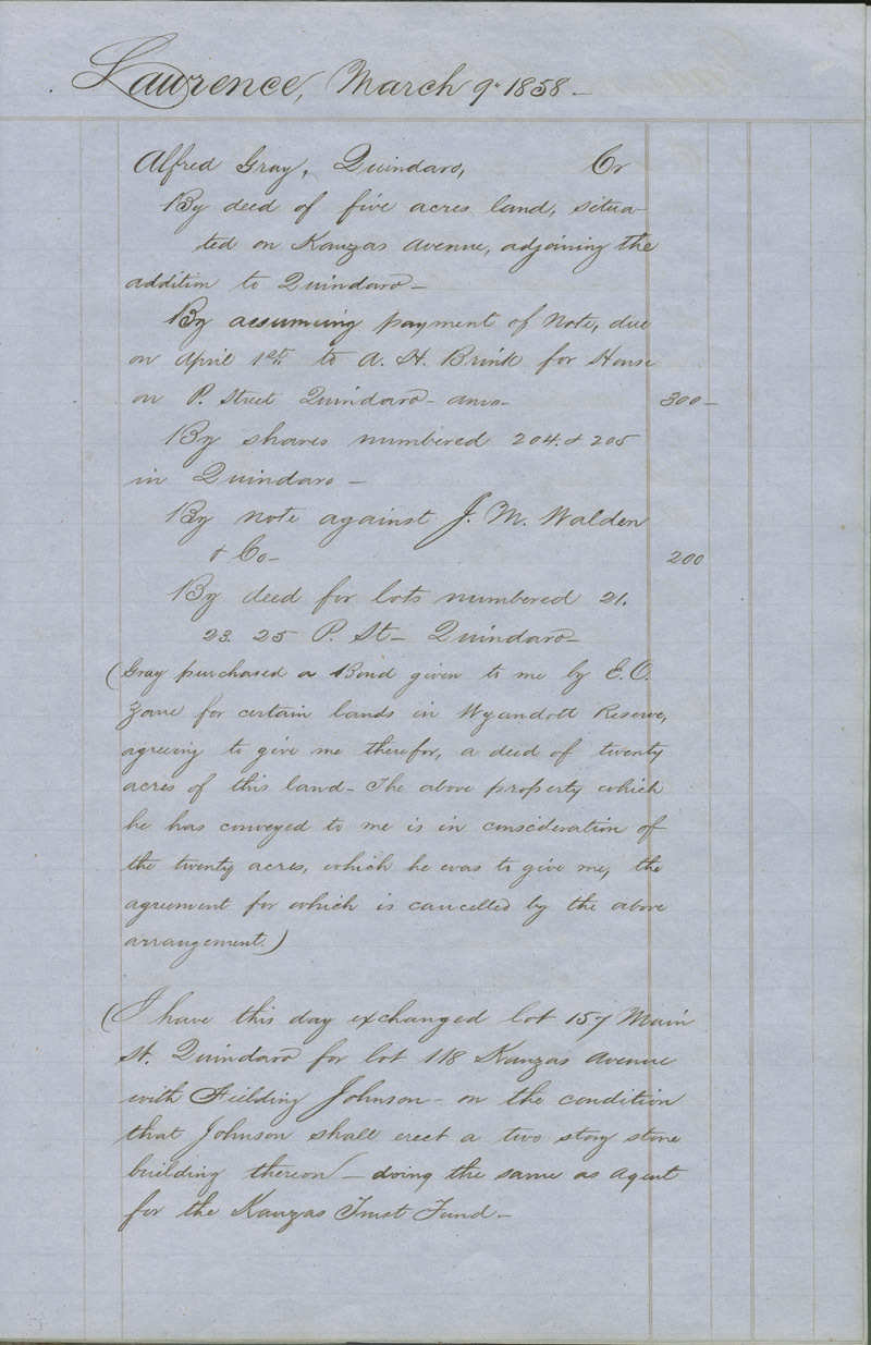Dr. Charles Robinson account book - p. 3