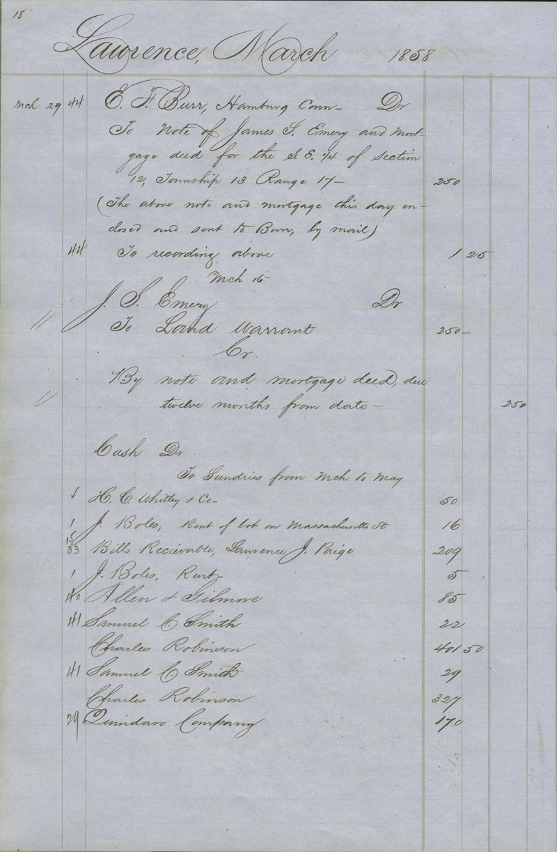 Dr. Charles Robinson account book - p. 4