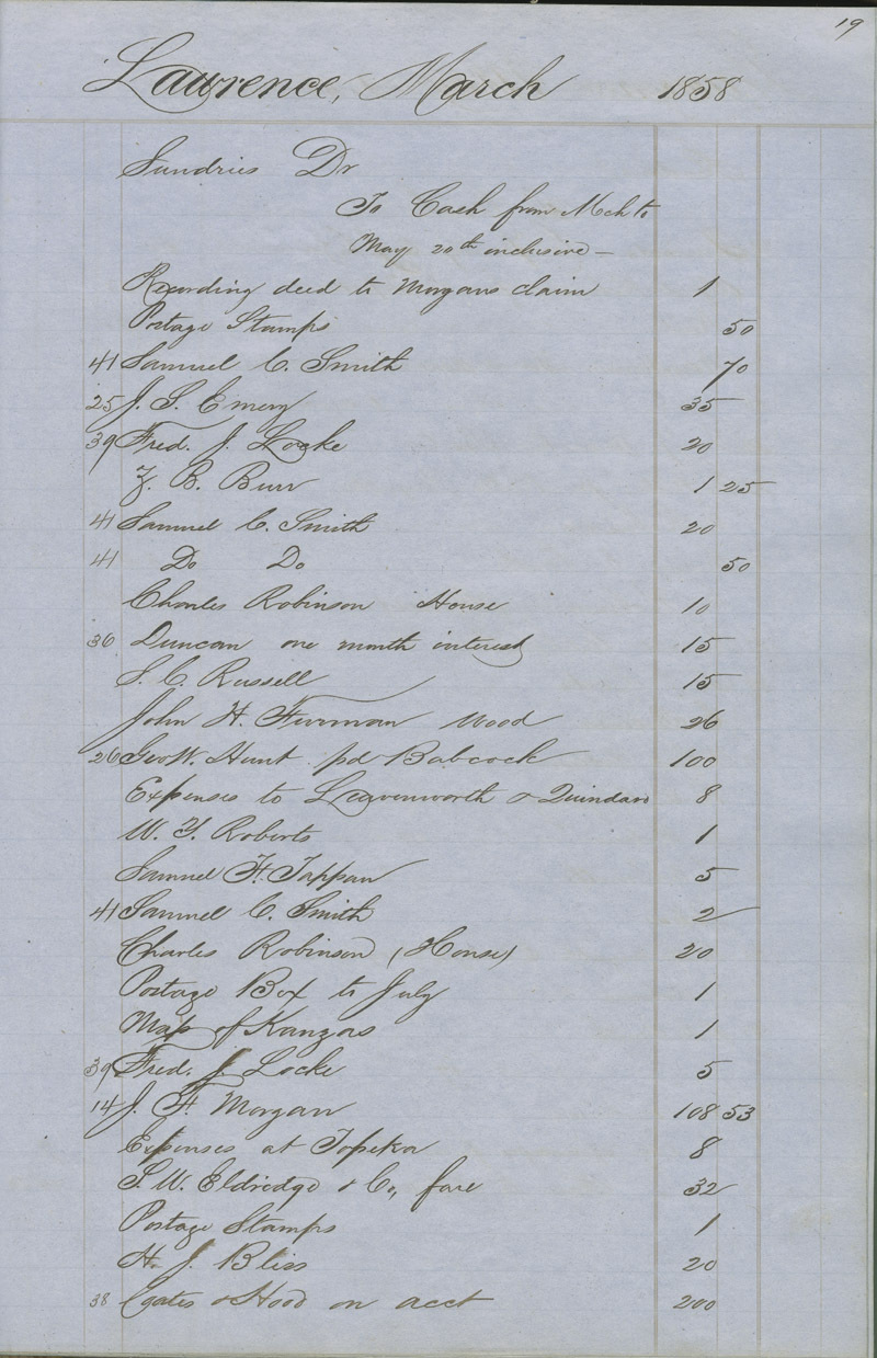 Dr. Charles Robinson account book - p. 5