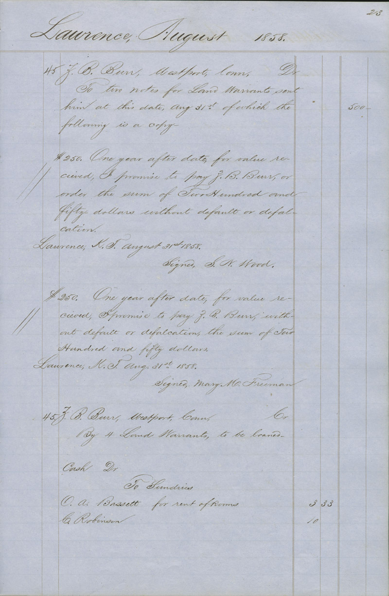 Dr. Charles Robinson account book - p. 1