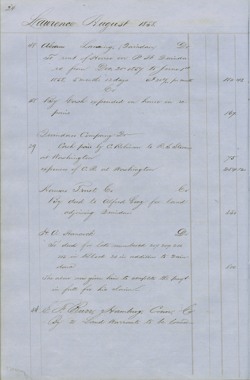Dr. Charles Robinson account book - p. 2