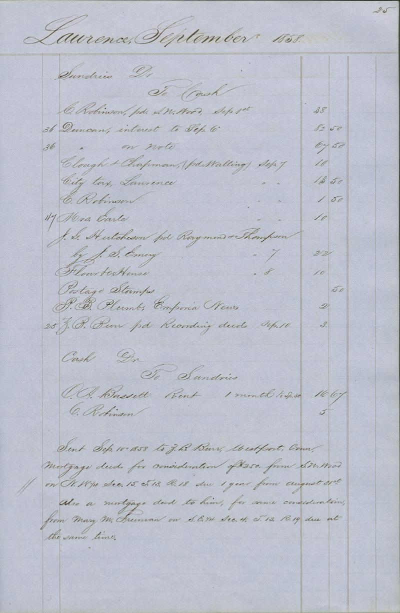 Dr. Charles Robinson account book - p. 3
