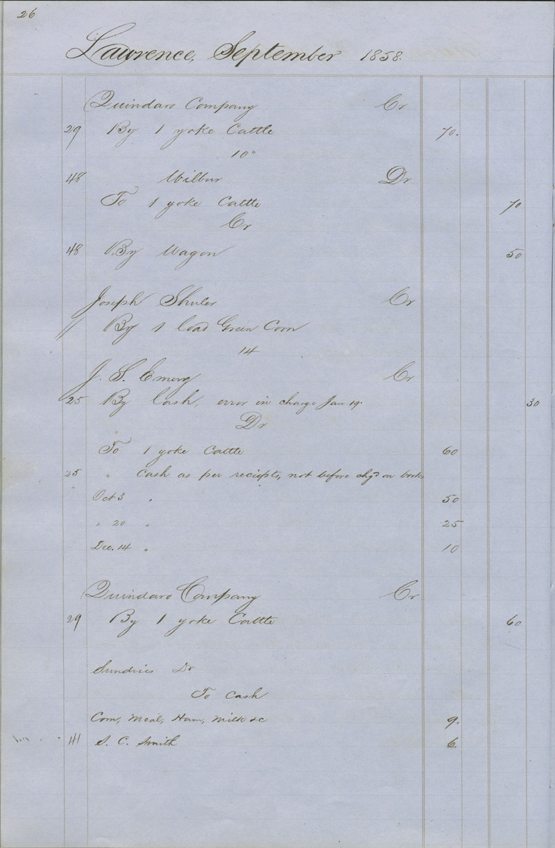 Dr. Charles Robinson account book - p. 4