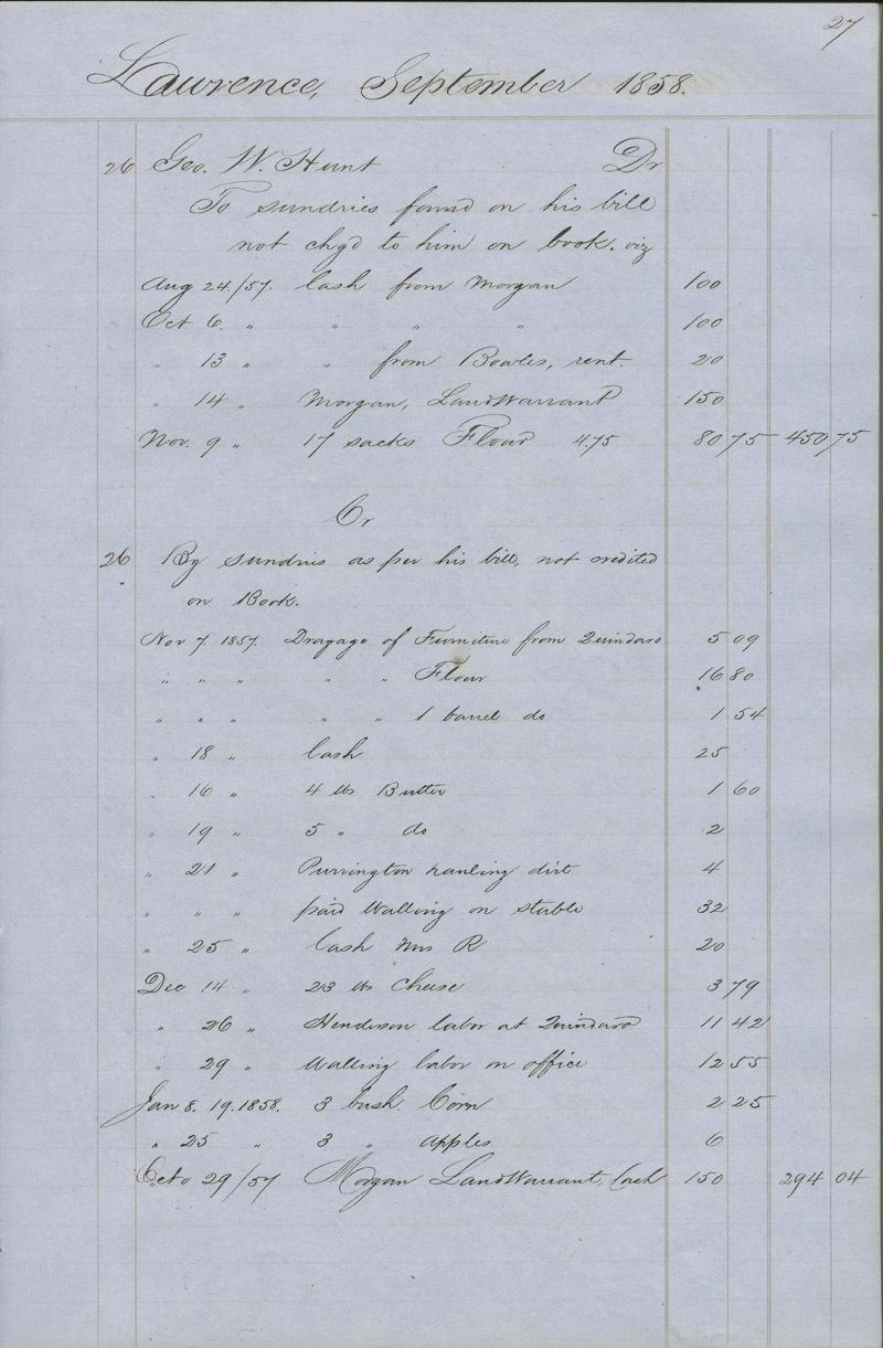 Dr. Charles Robinson account book - p. 5