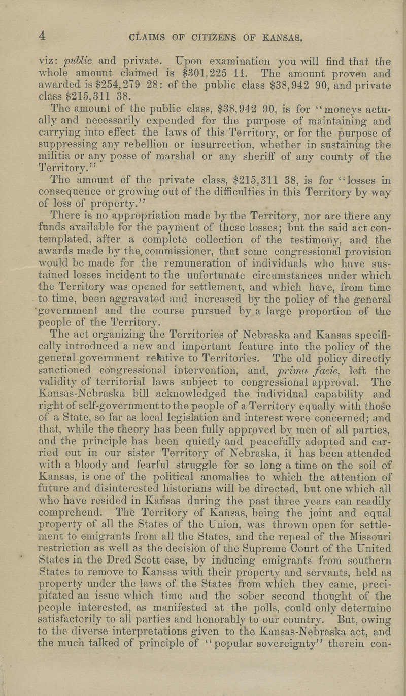 Kansas Territory citizens' claims process - p. 4