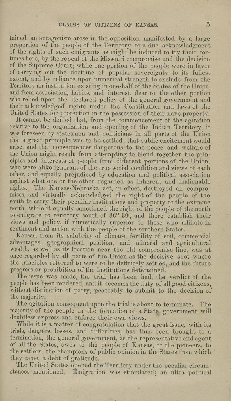 Kansas Territory citizens' claims process - p. 5