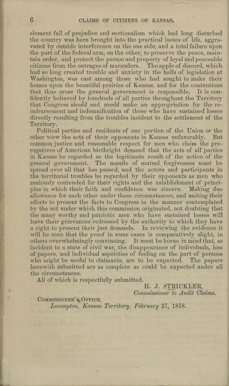Kansas Territory citizens' claims process - p. 6