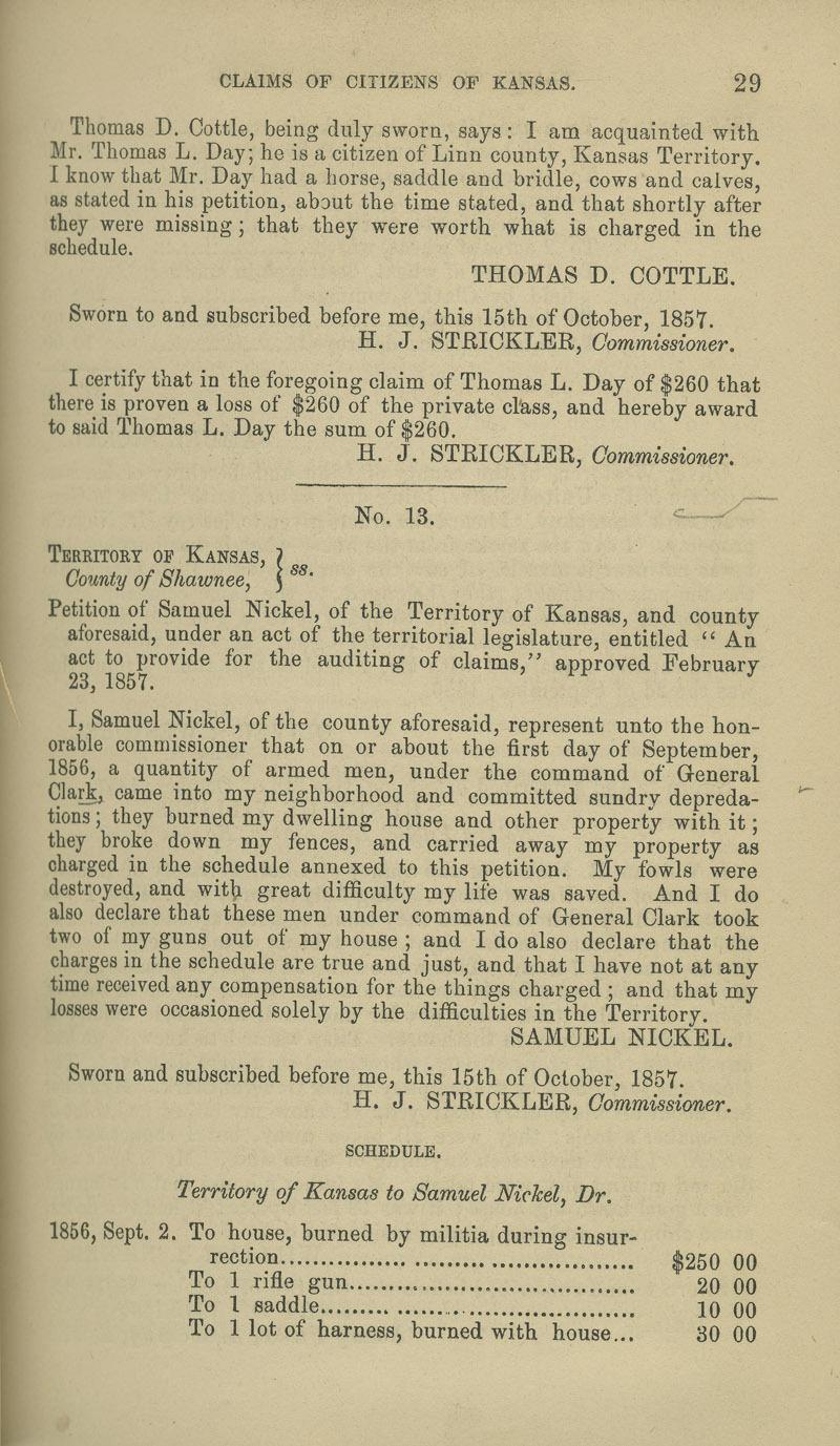 Samuel Nickel territorial loss claim - p. 29