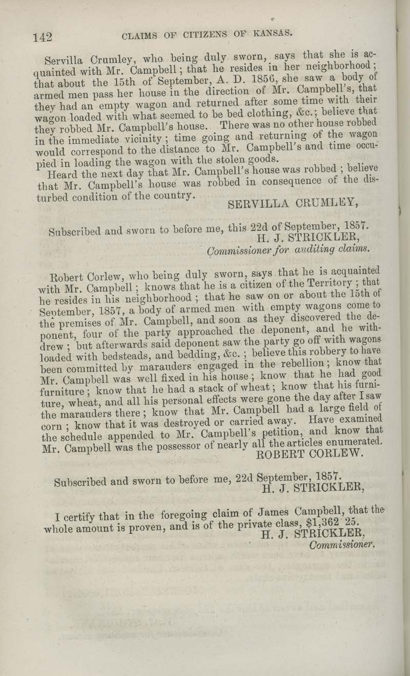 James Campbell territorial loss claim - p. 142