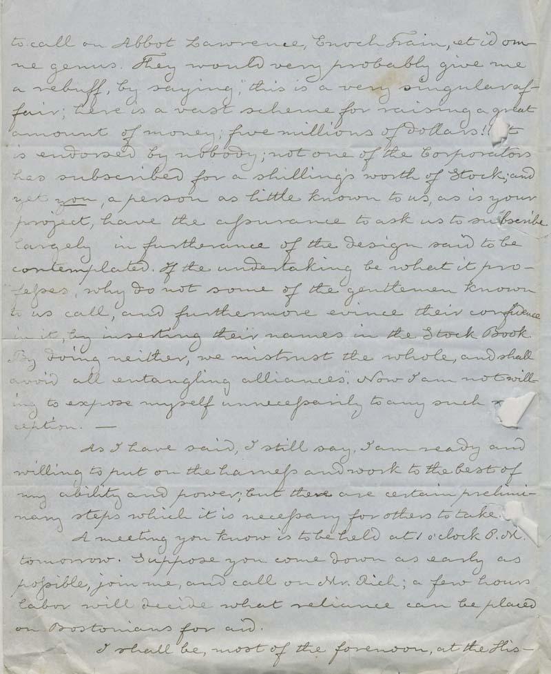 Thomas H. Webb to Eli Thayer - p. 2
