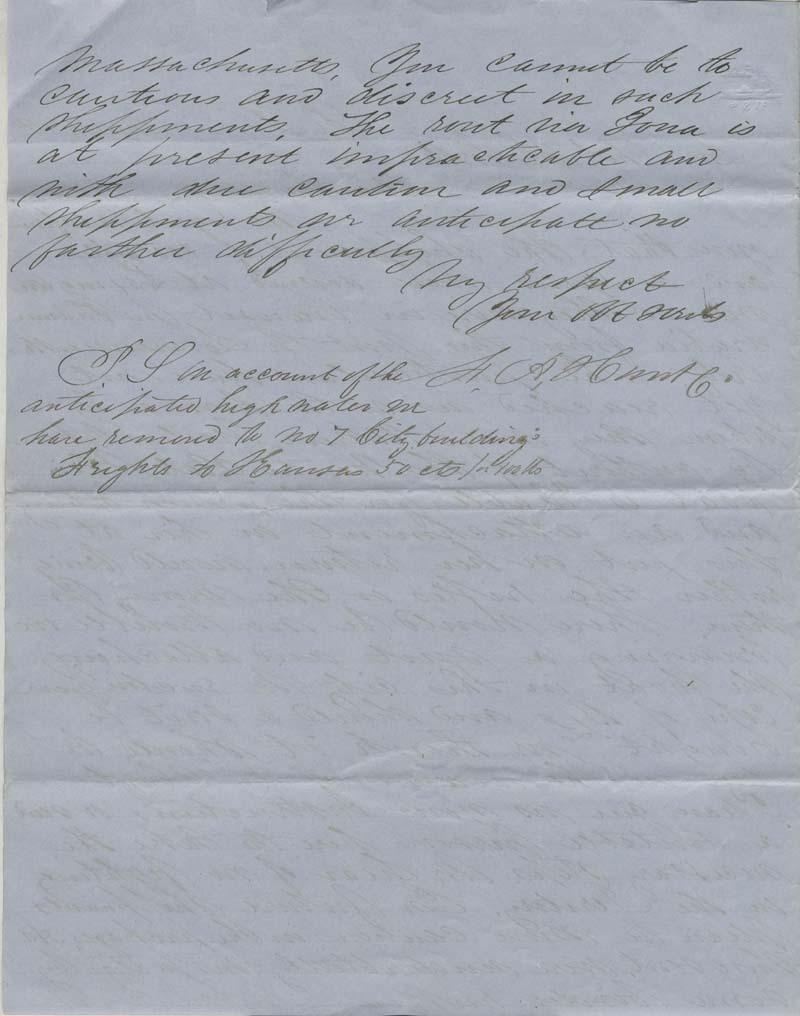 F.A. Hunt to Thomas H. Webb - p. 2